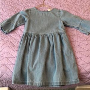 Girl baby Gap denim bell sleeve dress sz 5T